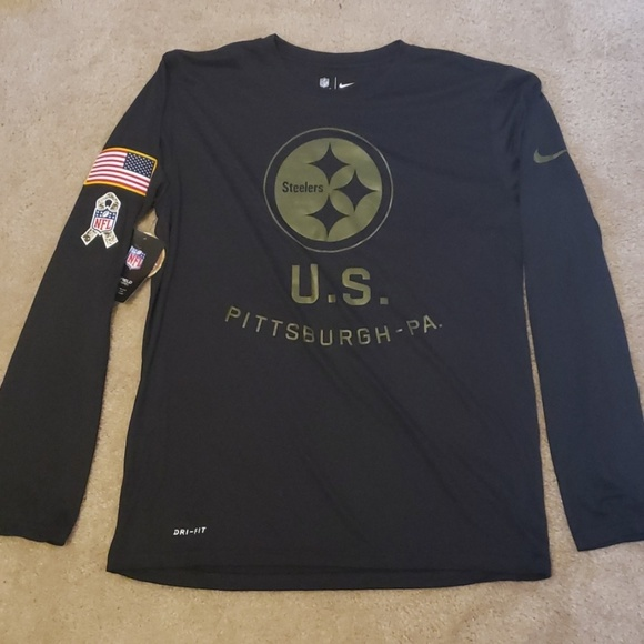 new concept 70fdd 6bcab Nike Men's Steelers Salute To Service L/S Shirt